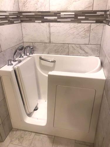 Remodeled Bathroom With Walk-In Bathtub