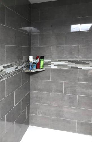 Remodeled Shower Tile