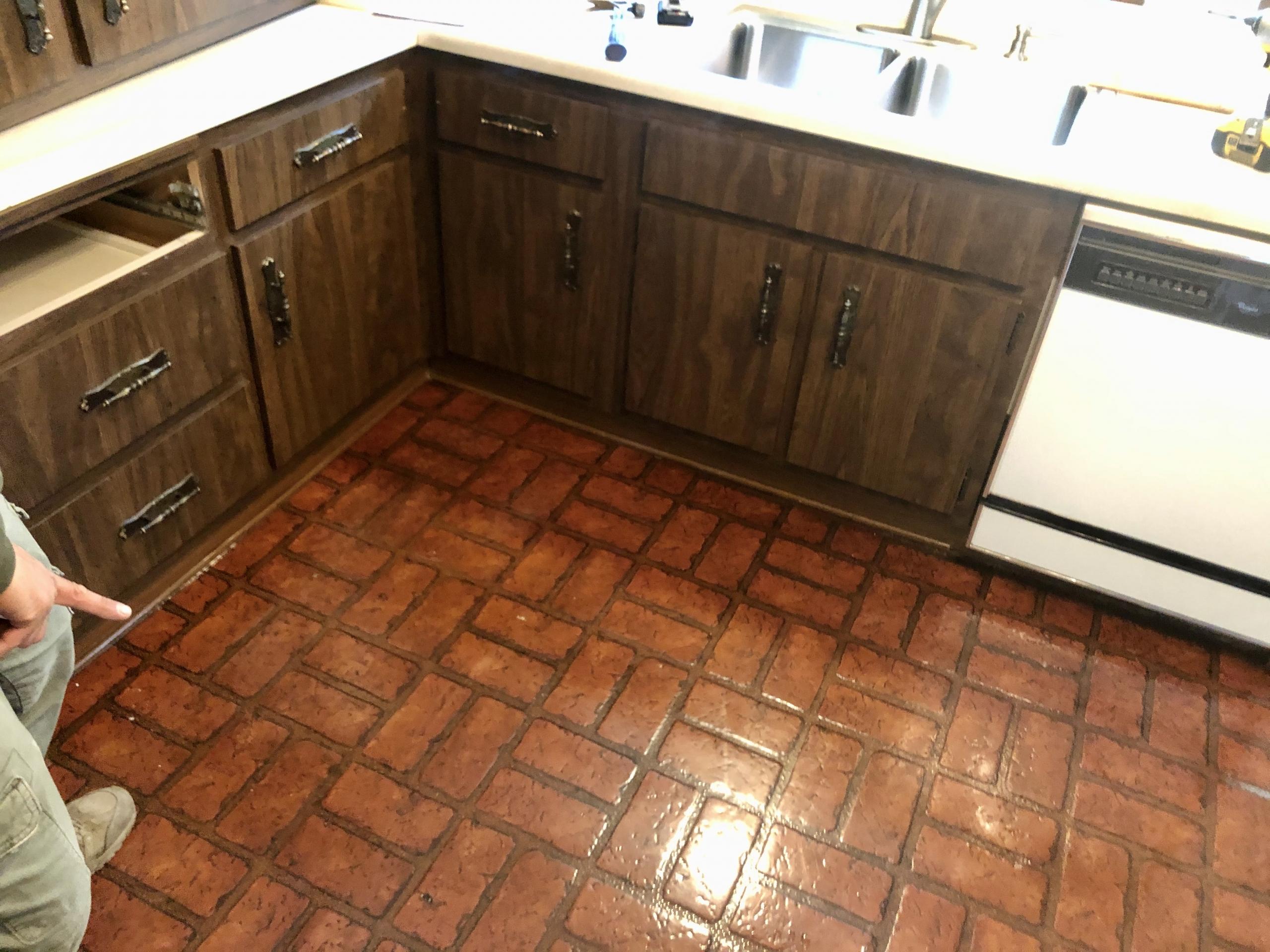 Kitchen Floor Before Remodel