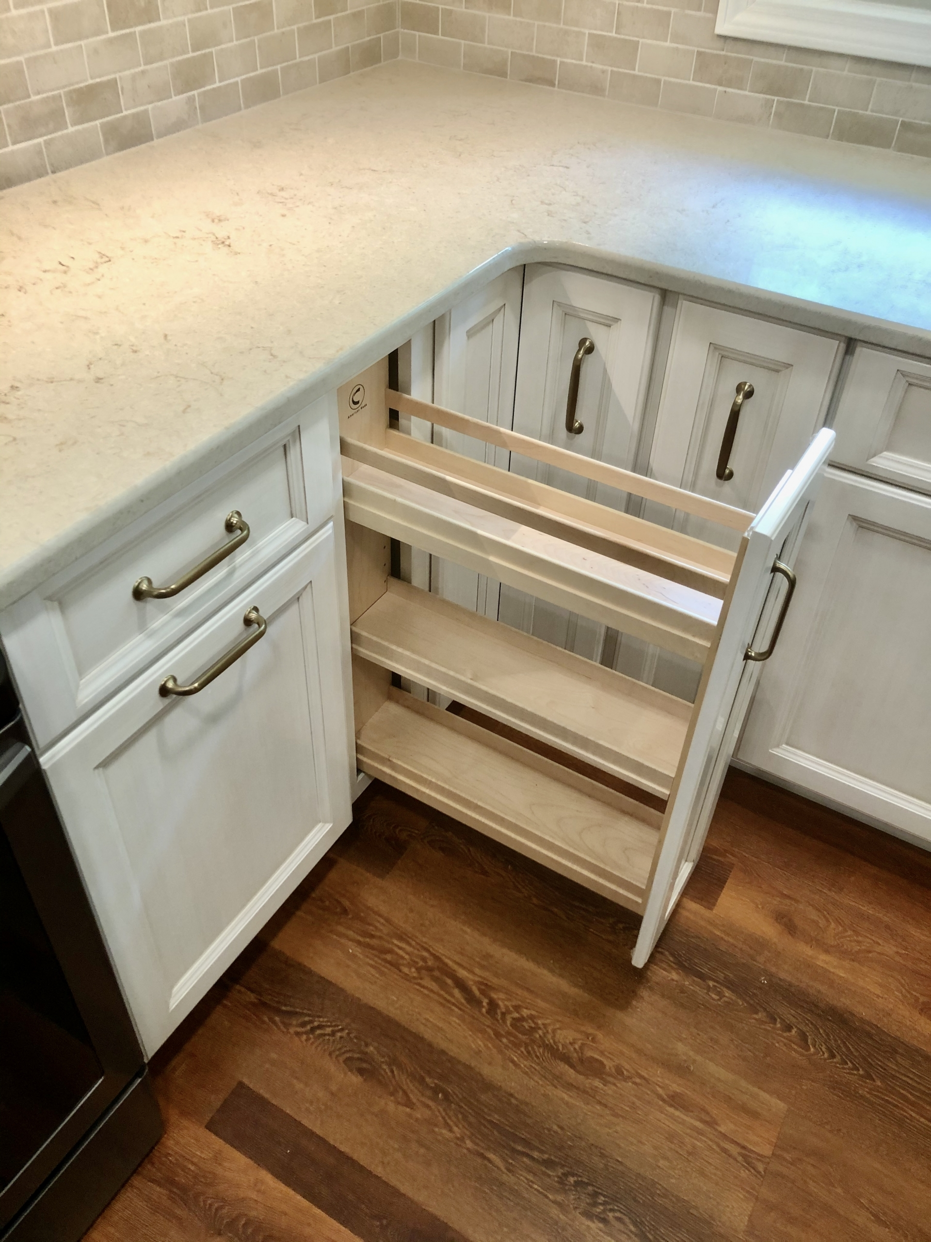 Remodeled Kitchen Slide-Out Drawer