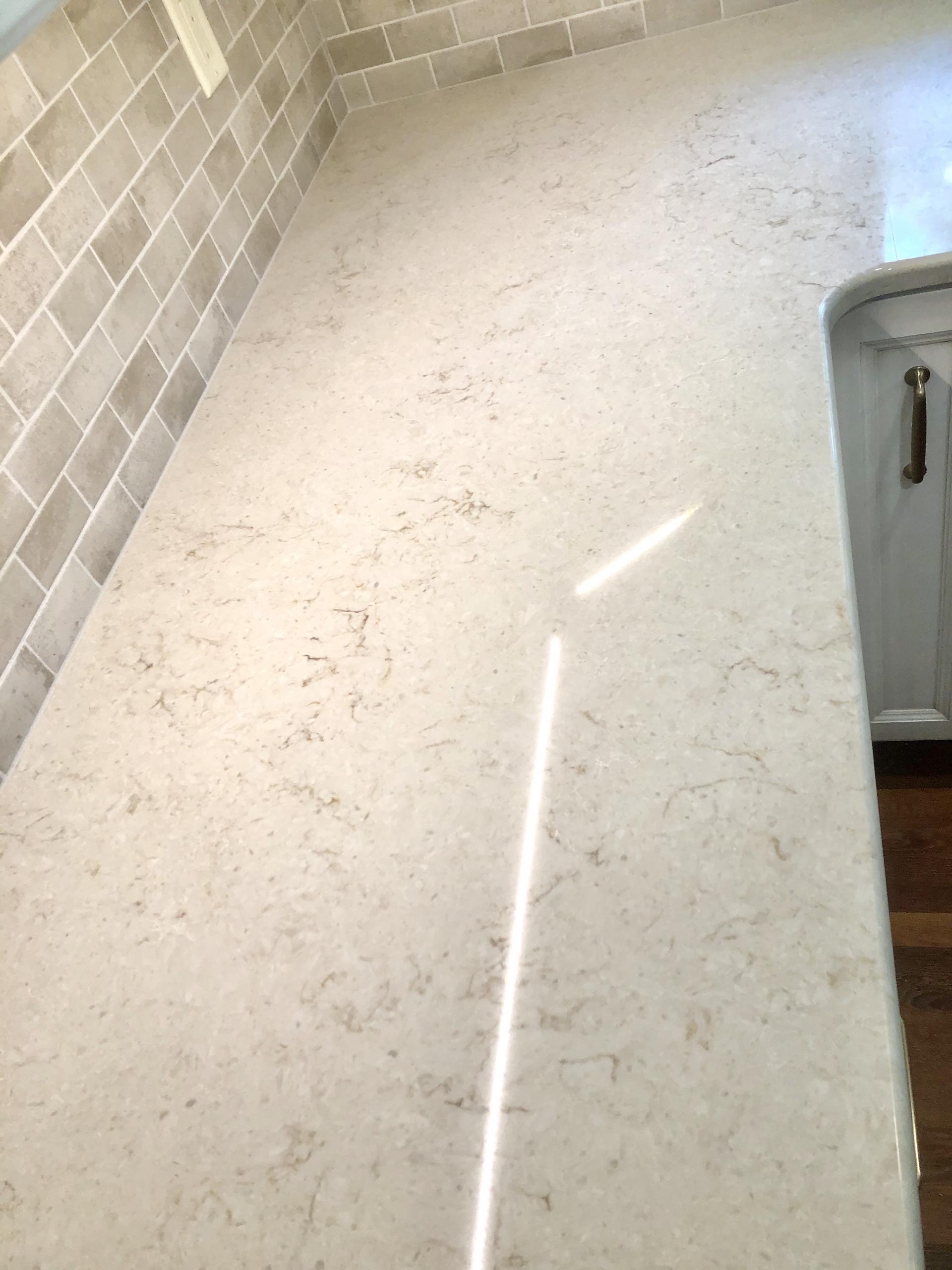 Remodeled Kitchen Countertop & Backsplash