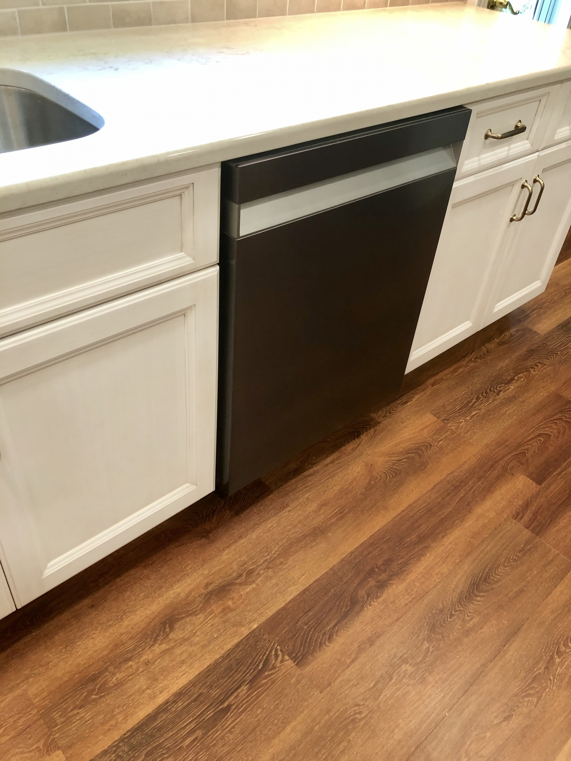 Remodeled Kitchen Countertop and Dishwasher