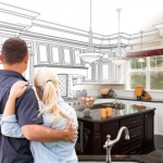 imagining renovated kitchen young couple