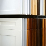 kitchen designer showroom with door samples